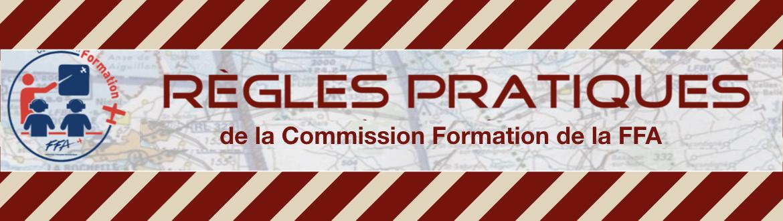 """Les """"Règles Pratiques"""" de la Commission Formation FFA"""
